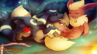 Pokémon Tiere Porn – 3 Tiere haben spaß Pokémon Tiere Porno